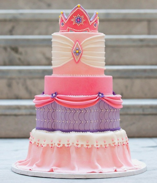 Pink & Purple Princess Cake