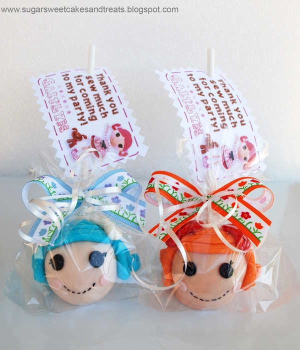 Lalaloopsy Cake Pop Favors