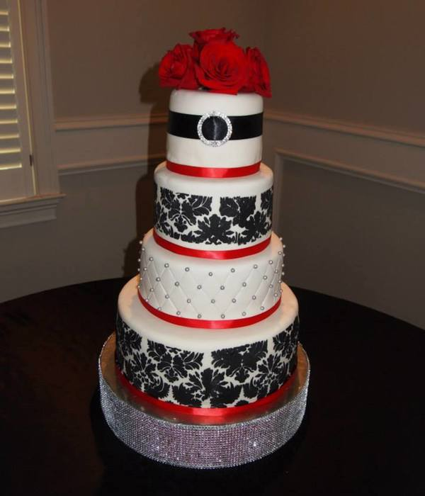 My Daughters Wedding Cake On June 15 2013 14108 And 6 Tiers...