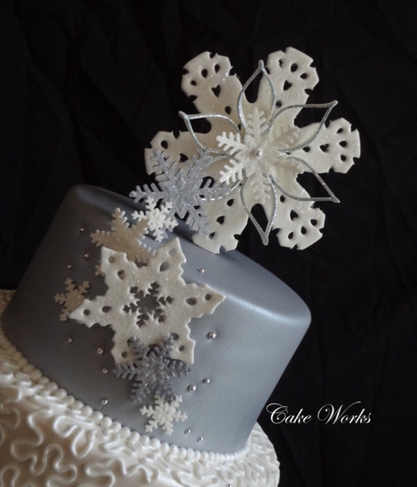 Silver And White Snowflake Wedding