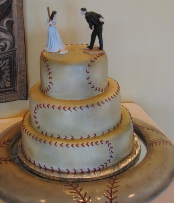 Baseball Bride And Groom