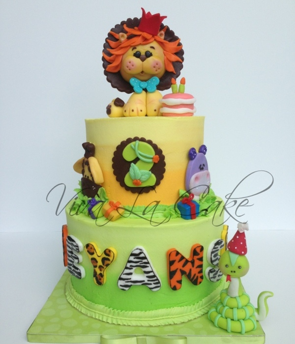 All Butter Cream Cake With Fondant Details And Topper I...