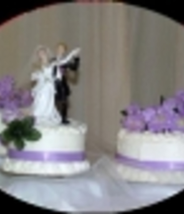 No Bake Lilac Wedding Cake