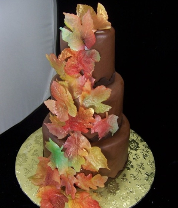 Wafer Paper Fall Leaf Wedding