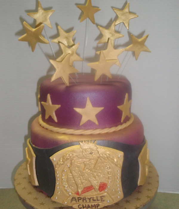 Wwe Wrestling Belt Cake