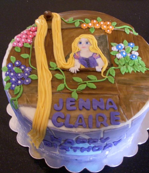Rapunzel Cake Shaped Like A