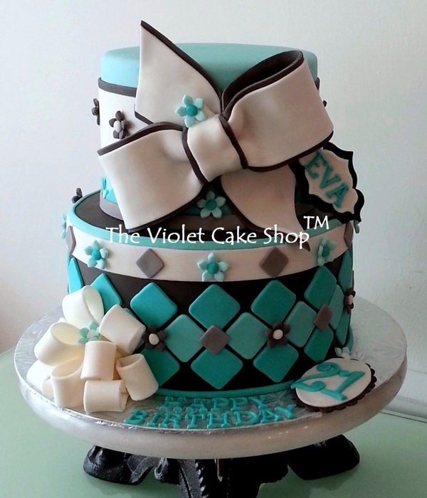 21St Birthday In Tiffany Blue With Bows