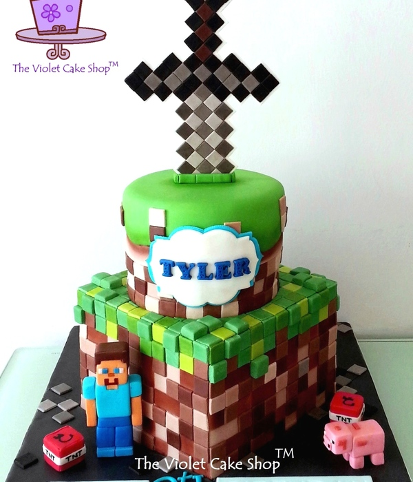 How To Make Minecraft Sword Cake Topper