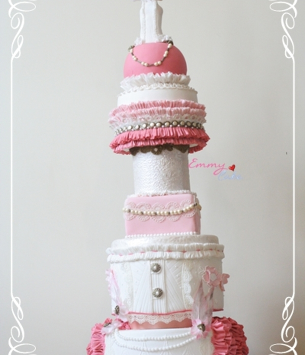 Ruffled Burlesque Cake