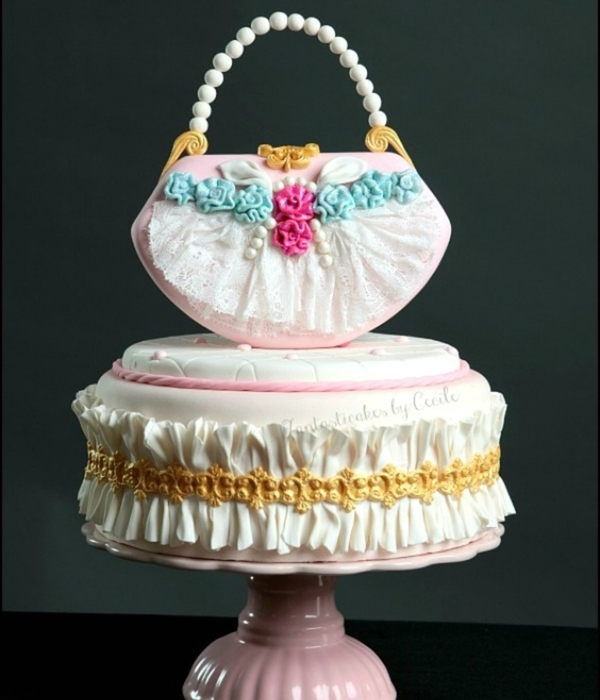 Shabby Chic Purse Cake