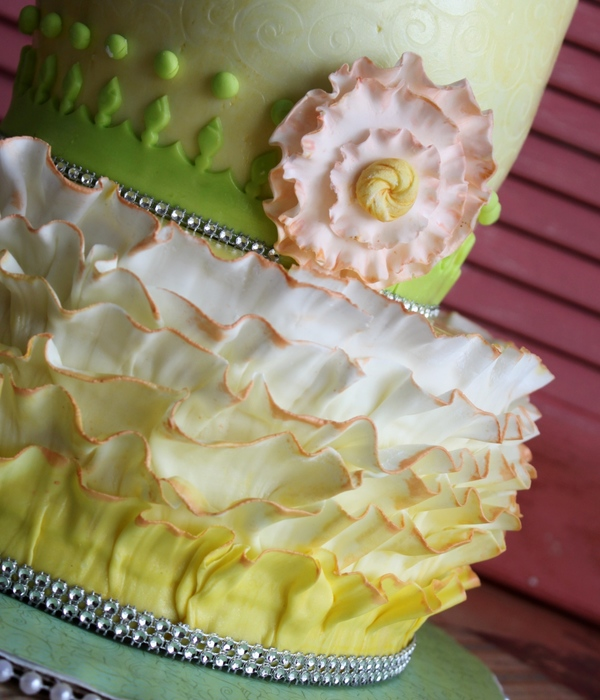 Ruffled 60Th Birthday Cake