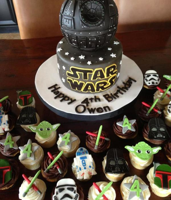 Strange Top Star Wars Cakes Cakecentral Com Funny Birthday Cards Online Overcheapnameinfo