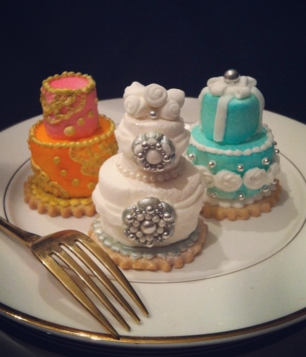 Mini Wedding Cake Tiers Made With Marshmallows
