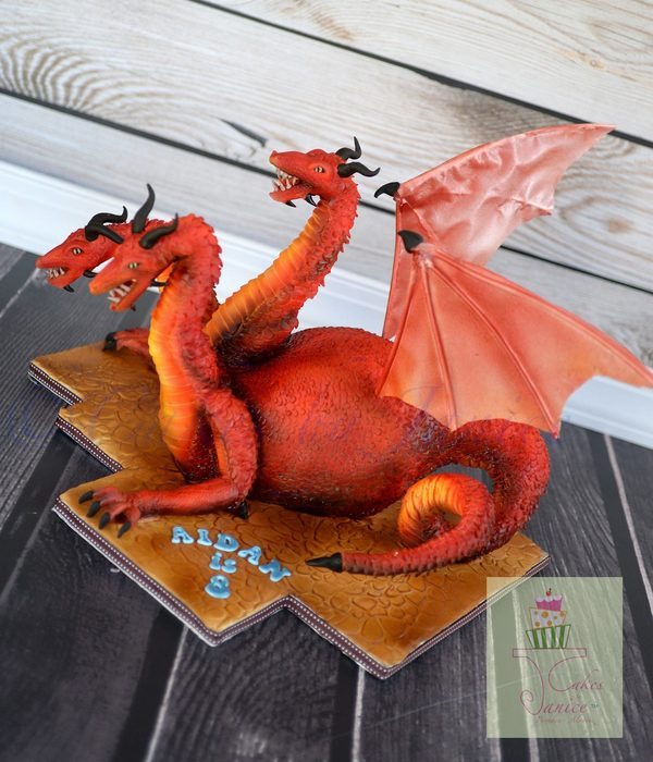Three Headed Dragon-Hydra Cake