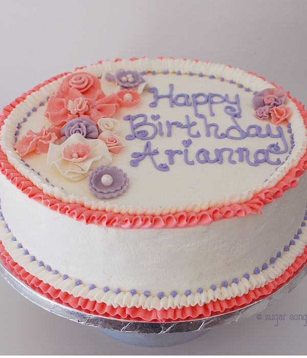 Birthday Cake With Vintage 'fabric' Ruffle...