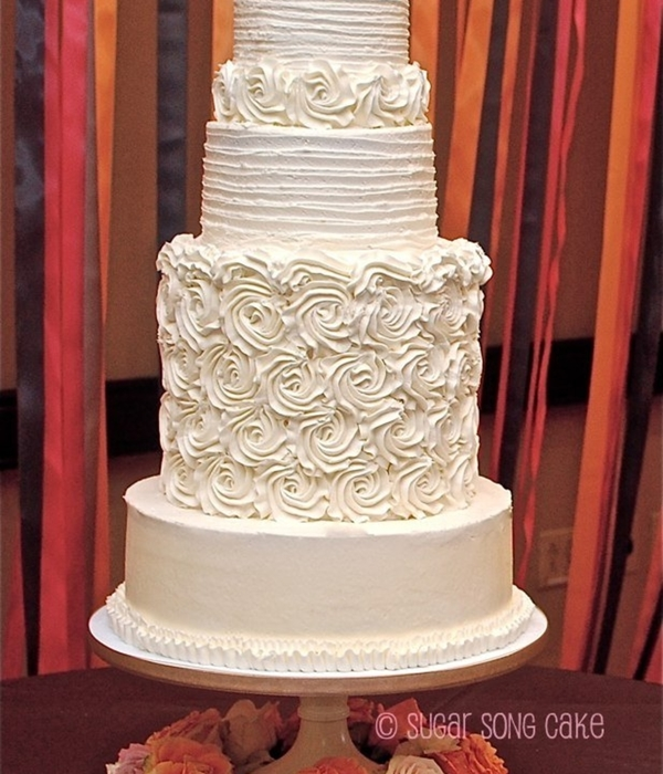 Top Buttercream Rosette Cakes Cakecentral Com