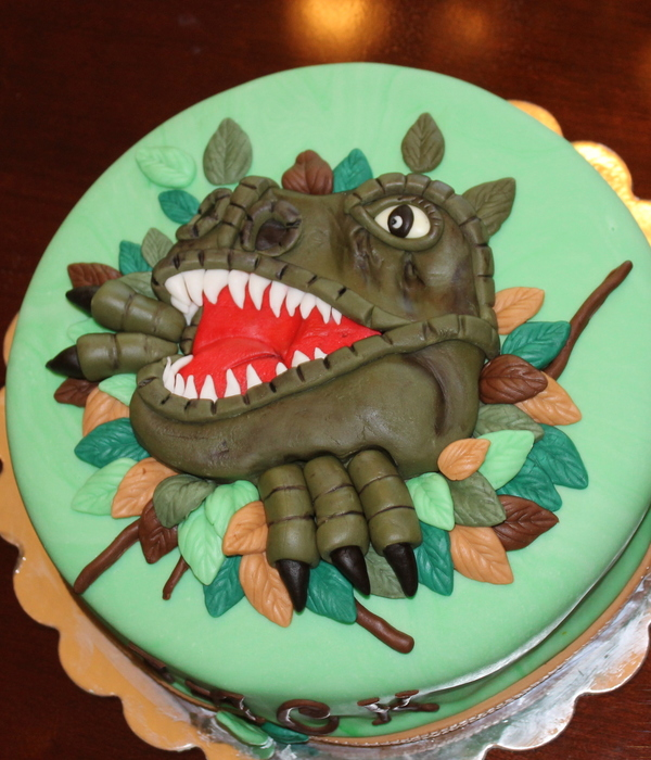 Pleasing Top Dinosaur Cakes Cakecentral Com Funny Birthday Cards Online Eattedamsfinfo