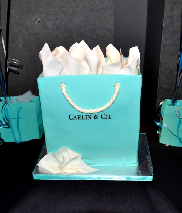 Tiffany Bag Cake