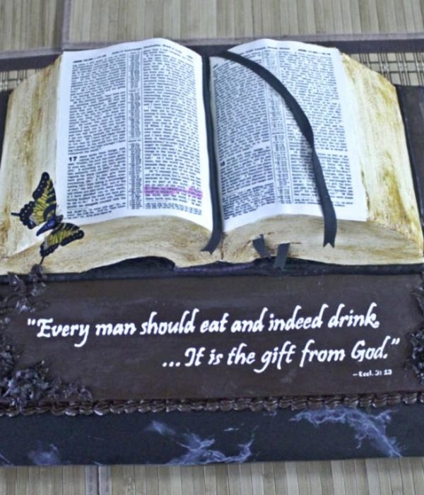 Bible Cake With Printed Icing Sheet