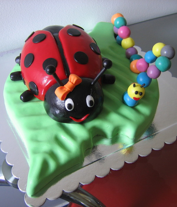 Lady Bug And Caterpillar