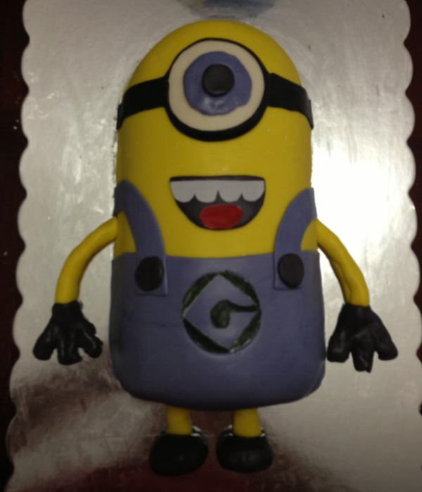 Minion Birthday Cake 2 6Rounds Cut In Half Layed Vertical...
