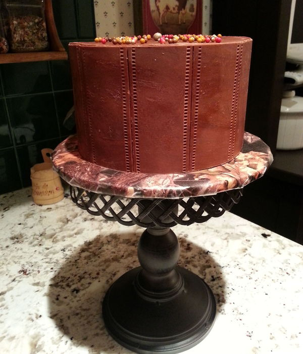 Leather Stitched Cake