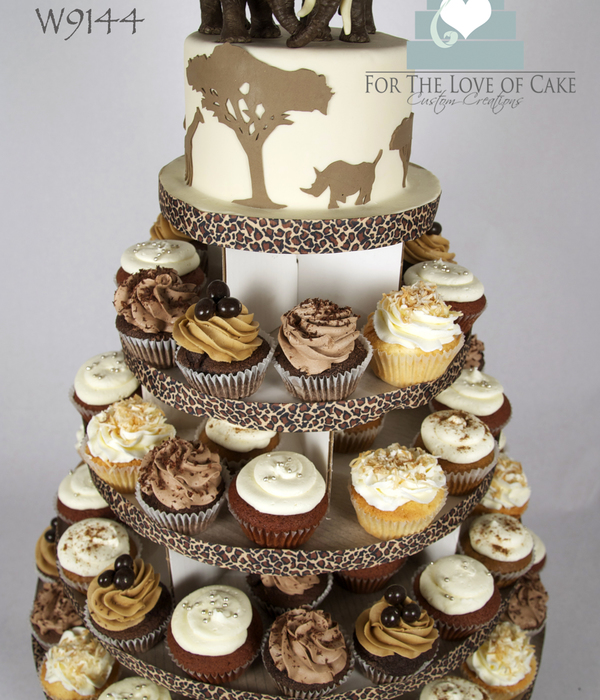 Safari Theme Cupcake Tower