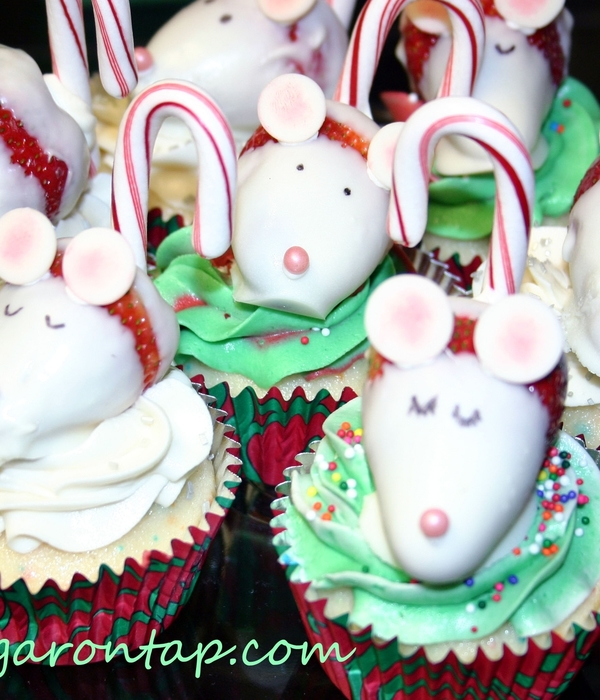 Strawberry Mice Cupcake Toppers