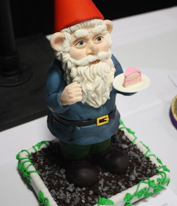 Garden Gnome With Birthday Cake
