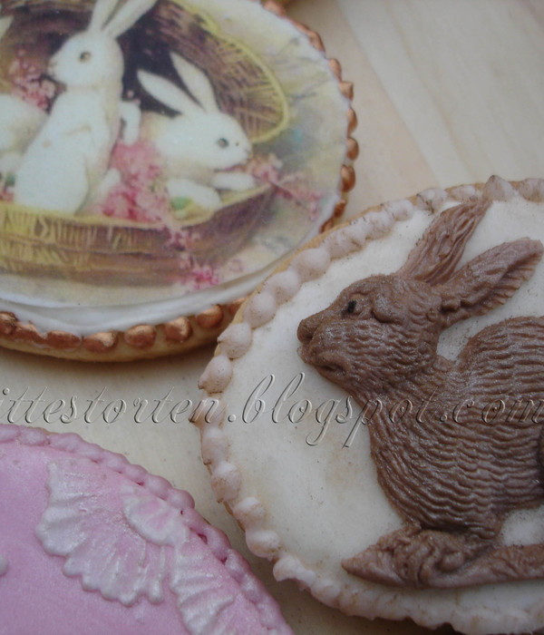 Easter Cookies Rabit Mould And Icing