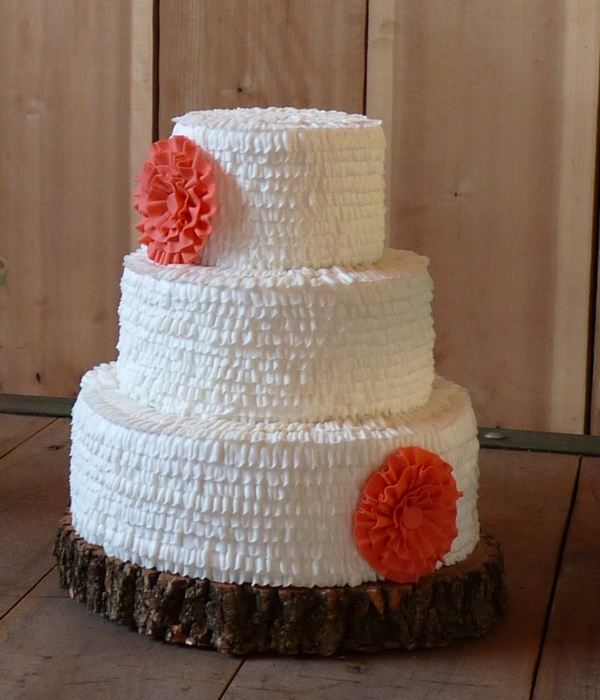 Buttercream Ruffle Brides Cake