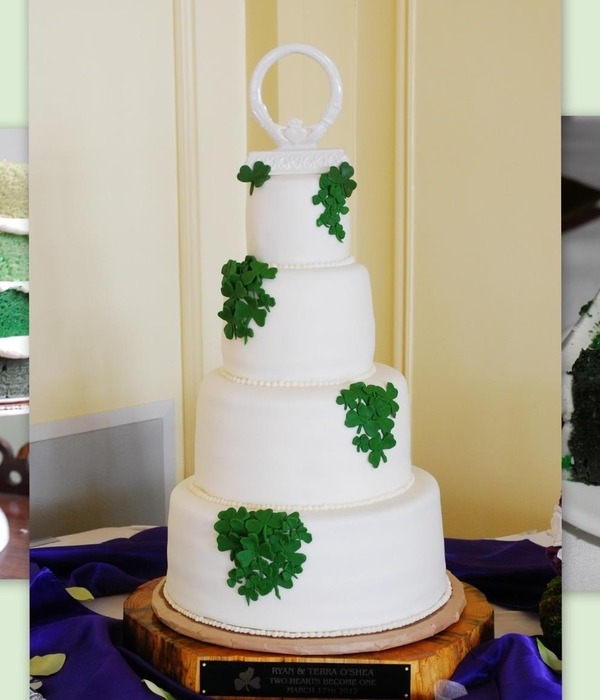 St. Patrick's Day Inside Ombre Wedding