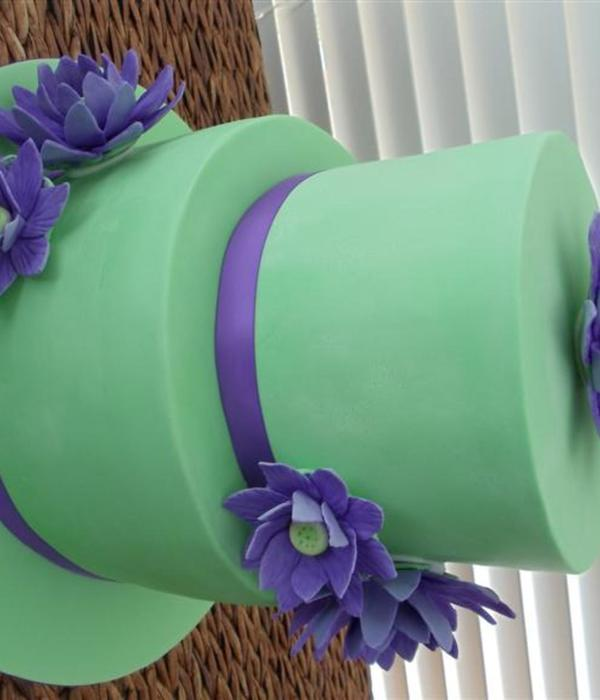 Purple Lotus Birthday Cake