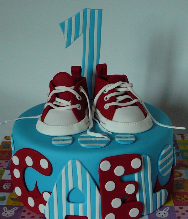 Red Converse Baby Shoes