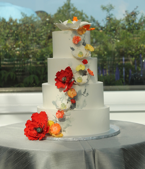 Buttercream Cake With Sugar Flowers For A Modern Look I...