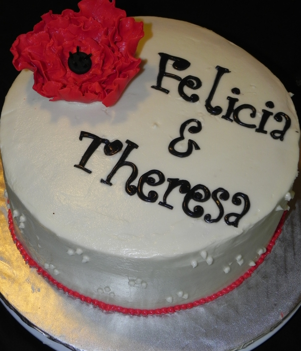 Red Fantasy Flower Birthday Cake