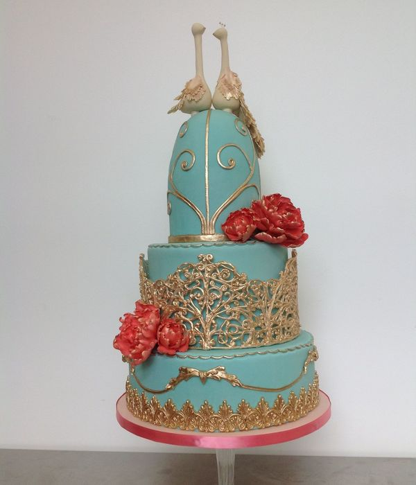 This Cake Was For A Bird Lover And Antique Cage Collector I Made A Floating Cage For The Mid Tier And Antique Moulding Elements On The Bot...