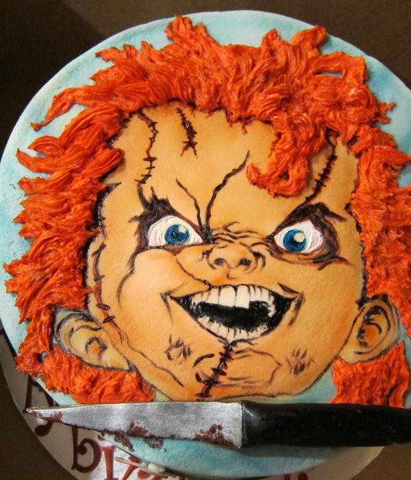Chucky Cake Decorating Photos