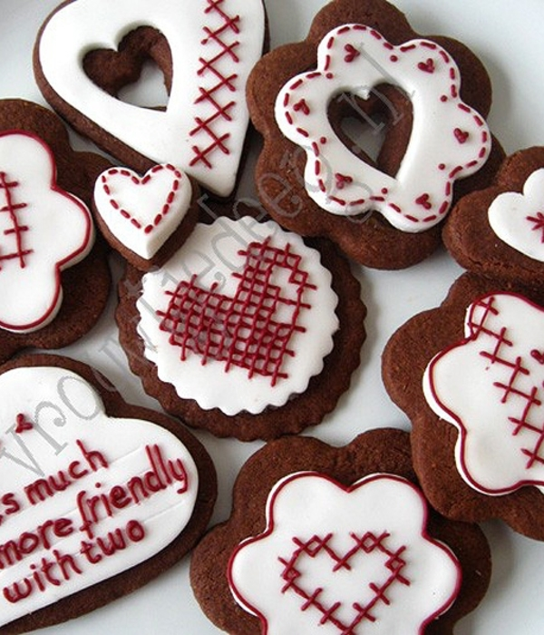 Cross Stitch Valentine Cookies