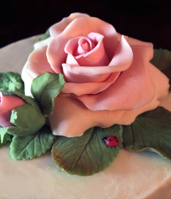 Rose White Chocolate Cake