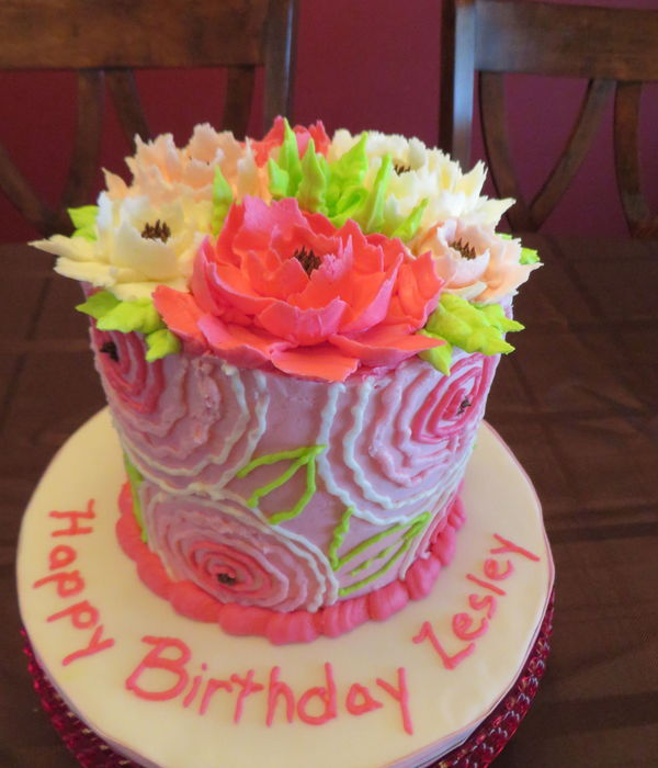 Big Buttercream Flowers!