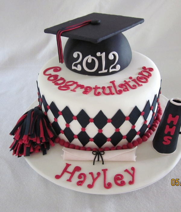 Cheerleader Graduation Cake