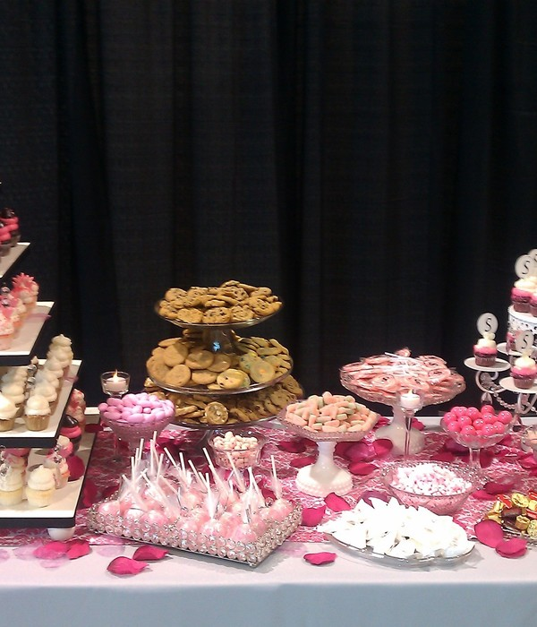 Dessert Table To Go With 3 Wedding Cakes