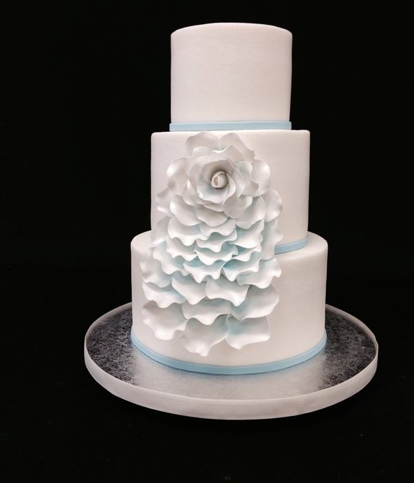 Buttercream Cake With Gum Paste Petals