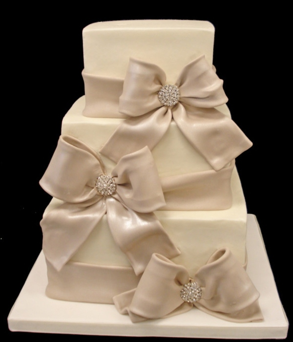 wedding cakes with bows and ribbon top cakes with bows cakecentral 25991