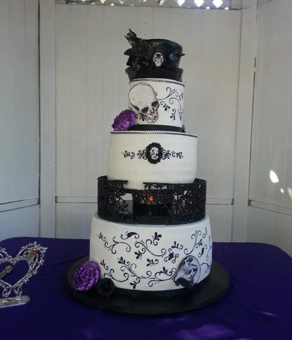 Goth Inspired Wedding Cake