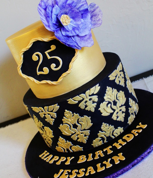 Black & Gold Damask
