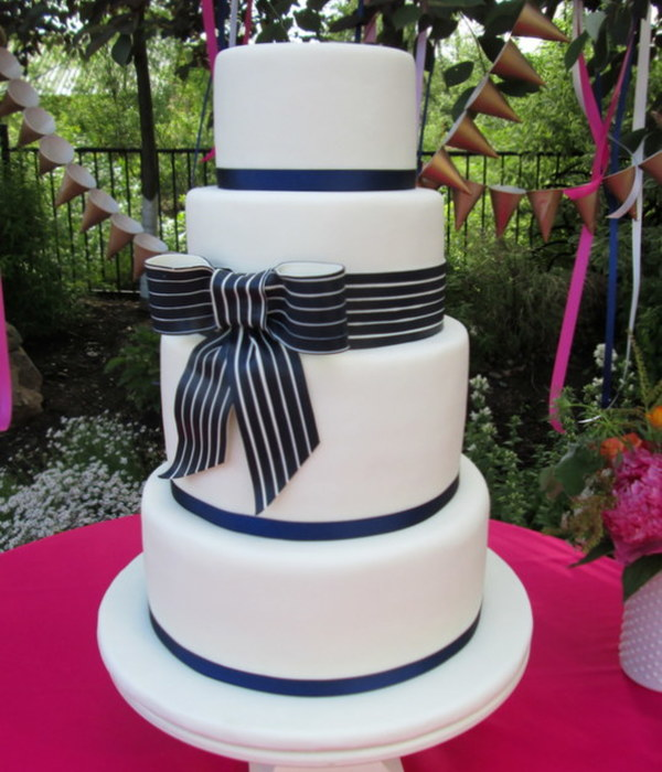 Gorgeous Wedding White Cake With Raspberry Cream Chocolate Cake With Chocolate Ganacheand Red Velvet With Cream Cheese The Bow Is Made