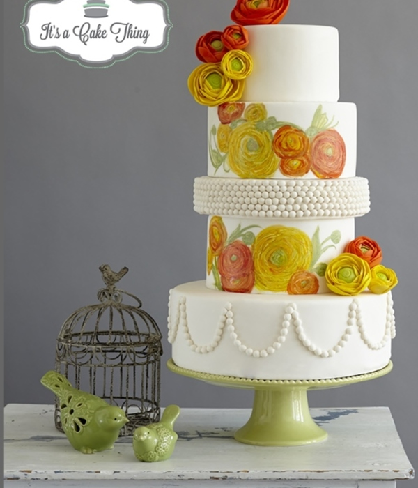 Ranunculus Floral Wedding Cake Central Magazine Submission...