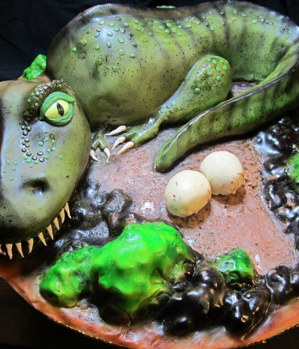 T-Rex Birthday Cake